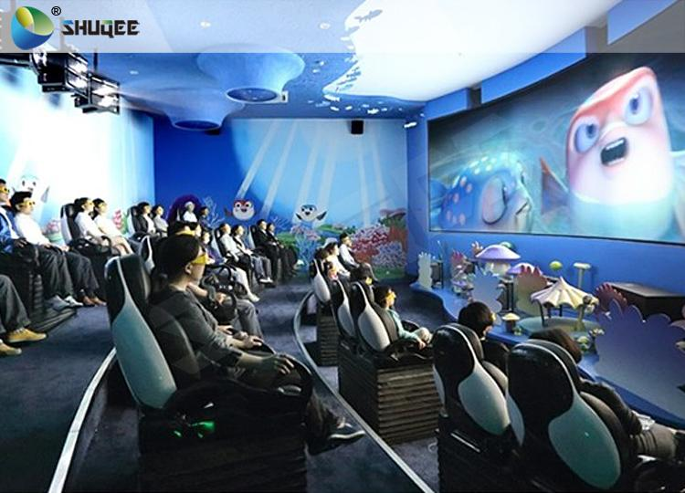 Exciting 5D Cinema Equipment, 5D Luxury Motion Seats With Vibration Effect In Ma